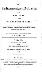 The Parliamentary Debates From The Year 1803 To The Present Time 13 Book PDF