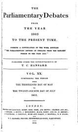The Parliamentary Debates From The Year 1803 To The Present Time   13
