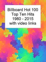 Billboard Top Ten Hits 1980-2015 with Youtube Links