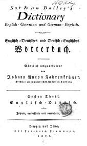 Nathan Bailey's Dictionary, English-German and German-English: Th. Englisch-deutsch