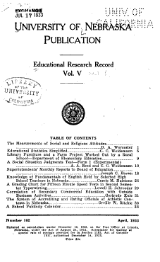 Educational Research Record PDF