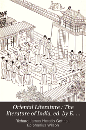 Oriental Literature: The literature of India, ed. by E. Wilson