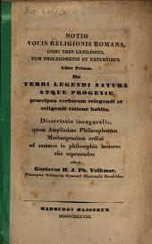 De verbi legendi natura atque progenie
