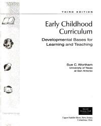Early Childhood Curriculum PDF