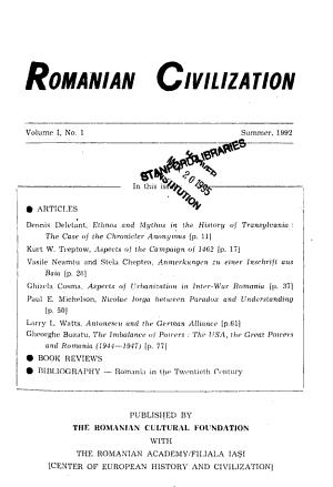 Romanian Civilization PDF