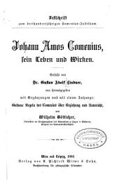 Johann Amos Comenius; sein Leben und Wirken