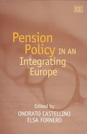 Pension Policy in an Integrating Europe