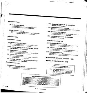Direct Marketing List Source PDF