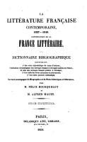 La litt  rature fran  aise contemporaine  XIXe si  cle PDF