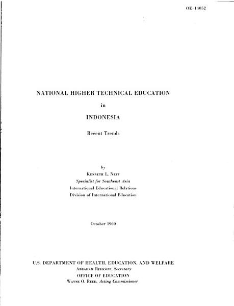 National Higher Technical Education in Indonesia PDF