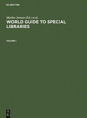 World Guide to Special Libraries PDF