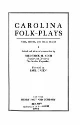 Carolina Folk plays PDF