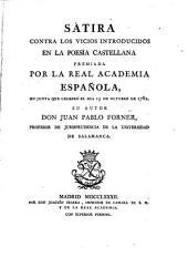 Sátira contra los vicios introducidos en la poesía castellana