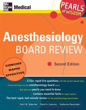 Anesthesiology Board Review PDF