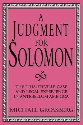 A Judgment for Solomon PDF