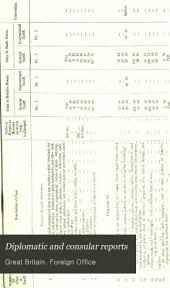 Diplomatic and Consular Reports: Miscellaneous series, Issues 263-302
