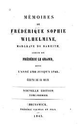 Memoiren von Jahre 1709 bis 1742: Band 1