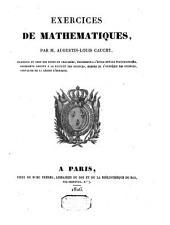 Exercices de mathématiques: Volume1