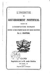 L'inertie du gouvernement pontifical