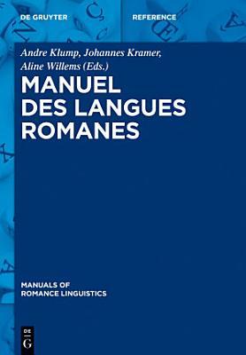 Manuel des langues romanes PDF