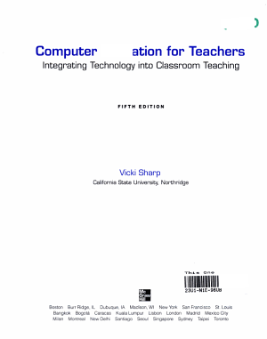 Computer Education for Teachers