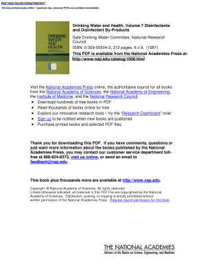 Drinking Water and Health  Volume 7