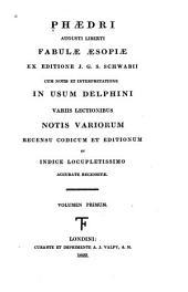 Phaedri Augusti liberti, Fabulae aesopiae: Volume 1; Volume 51