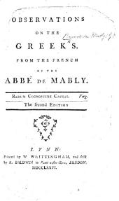Observations on the Greeks ... The second edition