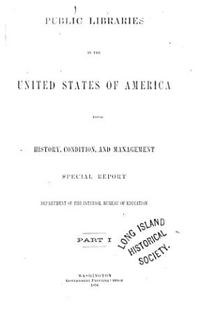 Public Libraries in the United States of America PDF