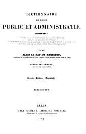 Dictionnaire de droit public et administratif: Volume2