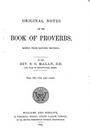 Original Notes on the Book of Proverbs PDF