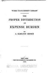 The Proper Distribution of Expense Burden
