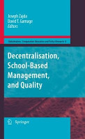 Decentralisation  School Based Management  and Quality PDF