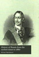 History of Russia from the Earliest Times to 1880 PDF