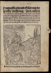 Prognosticatio vnd Erklerung der grossen Wesserung ... so sich begeben ... 1524