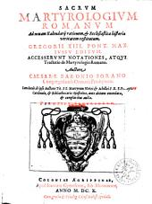Sacrum Martyrologium Romanum