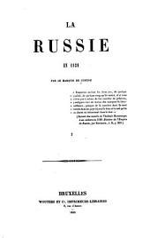 La Russie en 1839: Volumes3à4