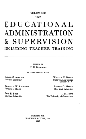 Educational Administration   Supervision PDF