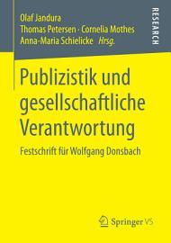 Publizistik und gesellschaftliche Verantwortung PDF