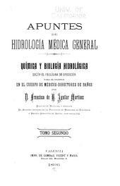 Apuntes de hidrología médica general: Química y biología hidrológica