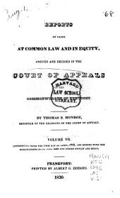 Reports of Civil and Criminal Cases Decided by the Court of Appeals of Kentucky, 1785-1951: Volume 2; Volume 7; Volume 23