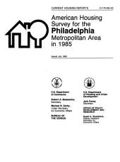 Current housing reports: American housing survey for the Philadelphia metropolitan area in ..., Issue 18