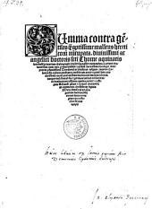 Summa contra gentiles ... malleus hereticorum nuncupata ... per Theodericum de Susteren ... fontali sue ... veritati ... restituta ... et castigata