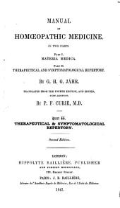 Manual of Homœopathic Medicine ...