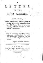 A Letter To The Secret Committee Book PDF