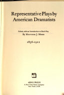 Download Representative Plays by American Dramatists Book