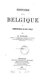 Histoire de la Belgique au commencement du XVIIIe siècle