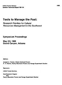 Tools to Manage the Past PDF