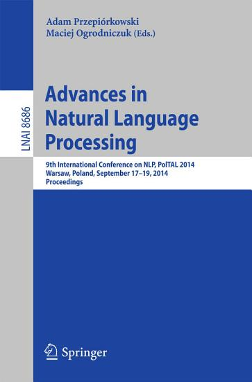Advances in Natural Language Processing PDF