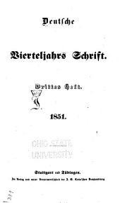 Deutsche vierteljahrs Schrift: Ausgabe 55